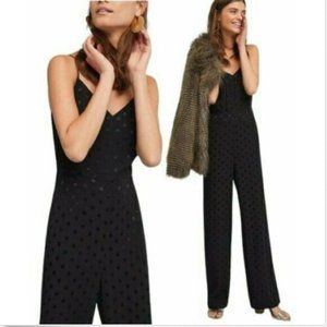 Anthropologie The Essential Jumpsuit Polka Dot